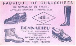 BUVARD FABRIQUE DE CHAUSSURES DE CHASSE ET DE TRAVAIL CHASSELEAU  DONNADIEU  AVALLON (YONNE) - Chaussures