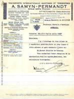 Mouscron - 1938 - A. Samyn-Permandt - Transports Internationaux Maritimes Et Terrestres - Transport