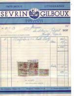 Auvelais - 1953 - Sevrin & Gilboux (successeur De Robert Sevrin ) Imprimerie-lithographie - Printing & Stationeries