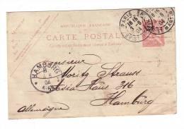 Plumes Duvets Strauss Et Cie 1904 Paris Hamburg Hambourg Allemagne Feather Entier Postal Type Mouchon - Frankrijk