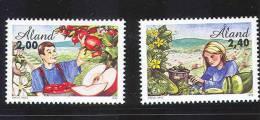 Aland 1998, Green Goods, Set Of 2 Stamp, MNH - Aland