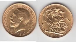 AUSTRALIE - AUSTRALIA *** SOUVERAIN - SOVEREIGN 1917 S (SYDNEY MINT) - OR - GOLD **** EN ACHAT IMMEDIAT !!! - Sterling Coinage (1910-1965)