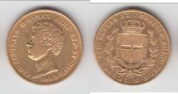 **** ITALIE - ITALIA - SARDAIGNE - SARDINIA - 20 LIRE CARLO ALBERTO 1840 P - OR - GOLD **** EN ACHAT IMMEDIAT - Regional Coins