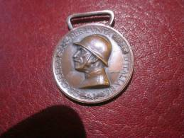 MEDAILLE - GUERRA PER L´UNITA D´IITALIA - 1915 - 1918 - CONIATA NEL BRONZO NEMICO - S CANEVARI - Italien