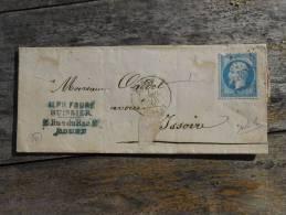 A10;lettre De  Rouen,varieté.Verso ,a Voir!!. - 1862 Napoleon III
