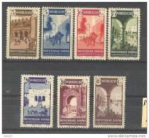 MA234-L2612TAO. Marruecos .Maroc. Marocco.MARRUECOS  ESPAÑOL TIPOS DIVERSOS 1941.(Ed.234/40*) Con    Charnela.LUJO - Otros