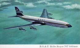 CPSM - B.O.A.C. Rolls-Royce 707 Jetliner - 1946-....: Moderne