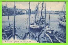 CETTE / SETE / BATEAUX DE PECHE / CANAL DU MIDI / Carte écrite En 1920 - Sete (Cette)