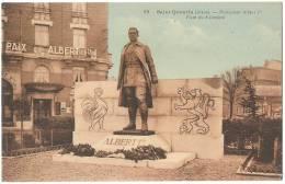 Dépt 02 - SAINT-QUENTIN - Monument Albert 1er - Place Du 8 Octobre - Hôtel De La Paix Et Albert Premier (couleur) - Saint Quentin