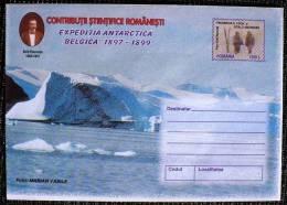 ROUMANIE, ENTIER Postal LETTRE (Cod 174/99) - Expédition Antarctique BELGICA 1897-1899 (N°1) - Philatélie Polaire