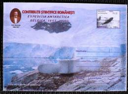 ROUMANIE, ENTIER Postal LETTRE (Cod 172/99) - Expédition Antarctique BELGICA 1897-1899 (N°3) Mammifere Marin - Philatélie Polaire
