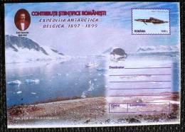 ROUMANIE, ENTIER Postal LETTRE (Cod 161/99) - Expédition Antarctique BELGICA 1897-1899 (N°3)poisson - Philatélie Polaire