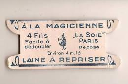 """Mercerie Ancienne/carte Vierge De Fil De Laine/(sans Fil )/""""A La Magicienne""""/fin19éme-début 20 éme Siécle MER11 - Habits & Linge D'époque"""