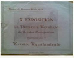 A118-INTERESANTE CATALOGO AÑO 1954 EN CARTAGENA EXPOSICION DE PINTURA Y ESCULTURA DE ARTISTAS CARTAGENEROS FIESTAS DE SE - Manuscritos
