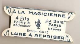 """Mercerie Ancienne/carte Vierge De Fil De Laine/(sans Fil )/""""a La Magicienne""""/fin19éme-début 20 éme Siécle MER13 - Habits & Linge D'époque"""