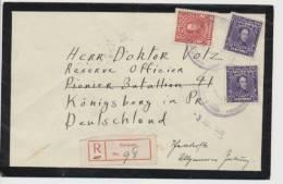 Venezuela Registered Letter Caracas To Königsberg 1939 2x MiNr 314 And 312 - Venezuela