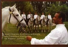 CHEVAL - JEAN-CHARLES ANDRIEUX - LES CAVALIERS VOLTIGEURS - PHOTOS YOHAN BRANDT - CARTE PRIVEE - CART'COM (2005) - Chevaux