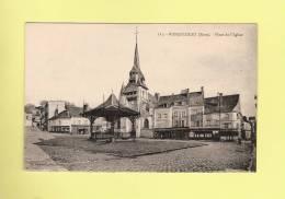 *  CPA..( 27 )..NONANCOURT  : Place De L´ Eglise  -  2 Scans - Autres Communes