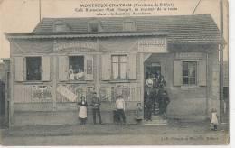 90 // MONTREUX CHATEAU   Café Restaurant Alph Haegeli,  JB Schmitt Edit   ANIMEE - Altri Comuni