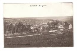 CPA : 54 - Meurthe Et Moselle : Baccarat : Vue Générale : Champs, Route , Ville, Clocher ... Pau Commune - Baccarat