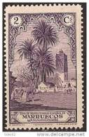 MA106-LA909TAMO.Maroc.Marocco  MARRUECOS ESPAÑOL PAISAJES Y MONUMENTOS 1928  (Ed 106**) Sin Charnela LUJO RARO - Otros