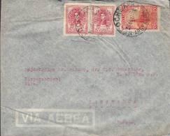 Argentina Airmail Via Aerea DANSK PROTESTANTISK MENIGHED, NECOCHEA 1947 Cover Letra To RIBE Denmark (2 Scans) - Luftpost