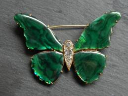 (3) Broche En Metal - Papillon émaillé 7 X 5 Cm - Broches