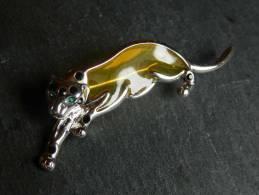 (3) Broche En Metal  - Panthere - Broches