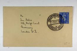 Czechoslovak Field Post Cover, UK Stamp And Very Nice Cancel