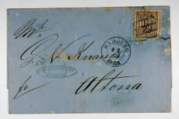 Germany Hamburg, 1866 Cover Mi. 10, Hamburg To Altona-Hamburg, - Hamburg