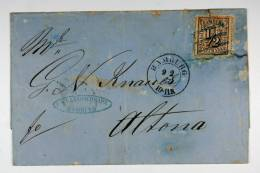 Germany Hamburg, 1866 Cover Mi. 10, Hamburg To Altona-Hamburg,