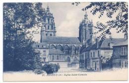 CPSM Bleutée Argentan Orne 61 Eglise St Germain édit G Artaud N°27 Non écrite Dos Vert - Argentan