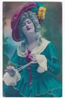PHOTOGRAPHS WOMAN A LADY WITH A HAT BLEUET Nr. 356 OLD POSTCARD - Photographs