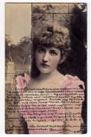 PHOTOGRAPHS WOMAN A LADY SERIE 306/360 OLD POSTCARD 1904. - Photographs