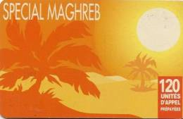 CARTE-PREPAYEE-1998-120U- SPECIAL MAGHREB-DESERT -PALMIERS JAUNE-TBE - Frankreich