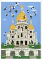 Cpsm Swissair, Signée Leporcher (Montmartre) - Pubblicitari