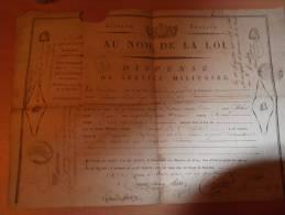 Militaria, Dispense Service Militaire, Thermidor An 7  ( 1799 ), Péronne, ( Cachet Somme, Bonnet Phrygien ) ( Free Posta - Documentos Históricos