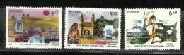 INDIA, 1990, Cities Of India, Set 3 V, Bikaner, Hyderabad, Cuttack,  MNH, (**) - Vacanze & Turismo