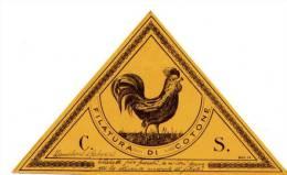 Etichetta (moda) Filatura Di Cotone Zanaboni E Gabuzzi Anni'30 - Pubblicitari