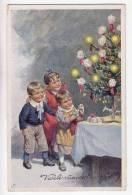 ILLUSTRATORS KARL FEIERTAG CHILDREN CHRISTMAS TREE B.K.W.I. Nr. 3036/3 OLD POSTCARD - Feiertag, Karl