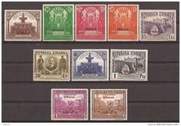 ES620-L3691TRI. España Spain Espagne.CONGRESO UNION POSTAL PANAMERICANA OFICIAL .1931.(Ed 620/9**)sin Charnela .LUJO - Islam