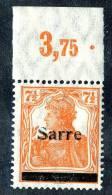 2062 )  SAAR 1920  Mi.#5a III  P OR  Mnh**  Proofed - Saar
