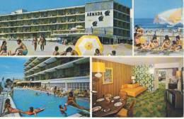 Hotel ARMADA MOTOR INN, WILDWOOD Crest, NJ - Advertise Card, Airmail,  Interesting Postmark, Soccer Stamp, Fußball-Marke - United States