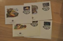 168 ++ WWF FDC MARSCHALL ISLANDS SHELLS MUSCHEL SCHELPEN CORQUE - Marshalleilanden