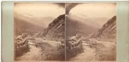 Stereo Vers 1865 La Percée Du Mont Cenis  Maurienne  Alpes - Stereoscopio