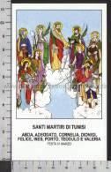 Xsa-10584 SANTI MARTIRI DI TUNISI ABDA ADEODATO CORNELIA DIONIGI INES TEODULO VALERIA Santino - Religion &  Esoterik