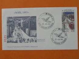 Noel Christmas 1993 FDC St Pierre Et Miquelon 307 - FDC