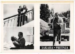 "PROGRAMS FILM ""THREAT"" FRANCE FILM DISTRIBUTED BY MAKEDONIA FILM SIZE 24X17 CM - Programs"