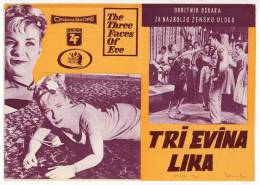 """PROGRAMS FILM """"THE THREE FACES OF EVE"""" 20TH CENTURY FOX DISTRIBUTED BY ZETA FILM SIZE 24X17 CM - Programs"""
