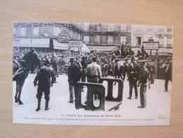 5. Greve Des Cheminots Du Nord (1910) Cour Interieure De La Gare Du Nord Gardée Militairement Pour ... - Strikes